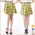 2018 New Latest Fashion Trends Geometric Patterns Lady Short Skirt