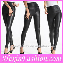 Wholesale High Waist Woman Black PVC Leggings