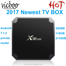Top Selling X96 Mini Smart Android TV BOX with Amlogic S905W RAM 1GB/2GB ROM 8GB/GB TV BOX