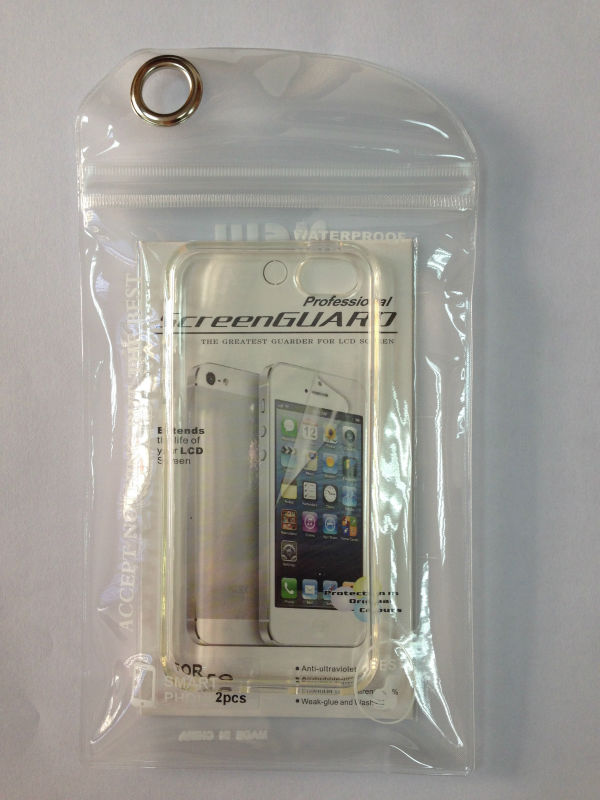 For iPhone 5 / 5S case Ultra Thin Transparent Clear TPU Case + Screen protector Film for iphone5 5S