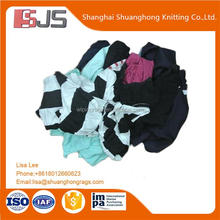 Dark color cotton cutting waste disposable t-shirt export products rags with 10KG packaging