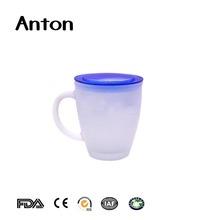 12oz Machine Pressed Glass Promotion Decal 300ml Glass Tea Mug
