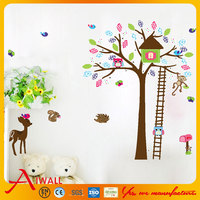 5078 Trees Animals wall stickers for windows dining room kid room girl room decorations wall decals wall art cartoon