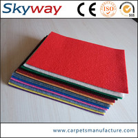 Polyester raw material needle punched interlocking event carpet