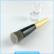 soft touch cosmetic flat top mini powder brush