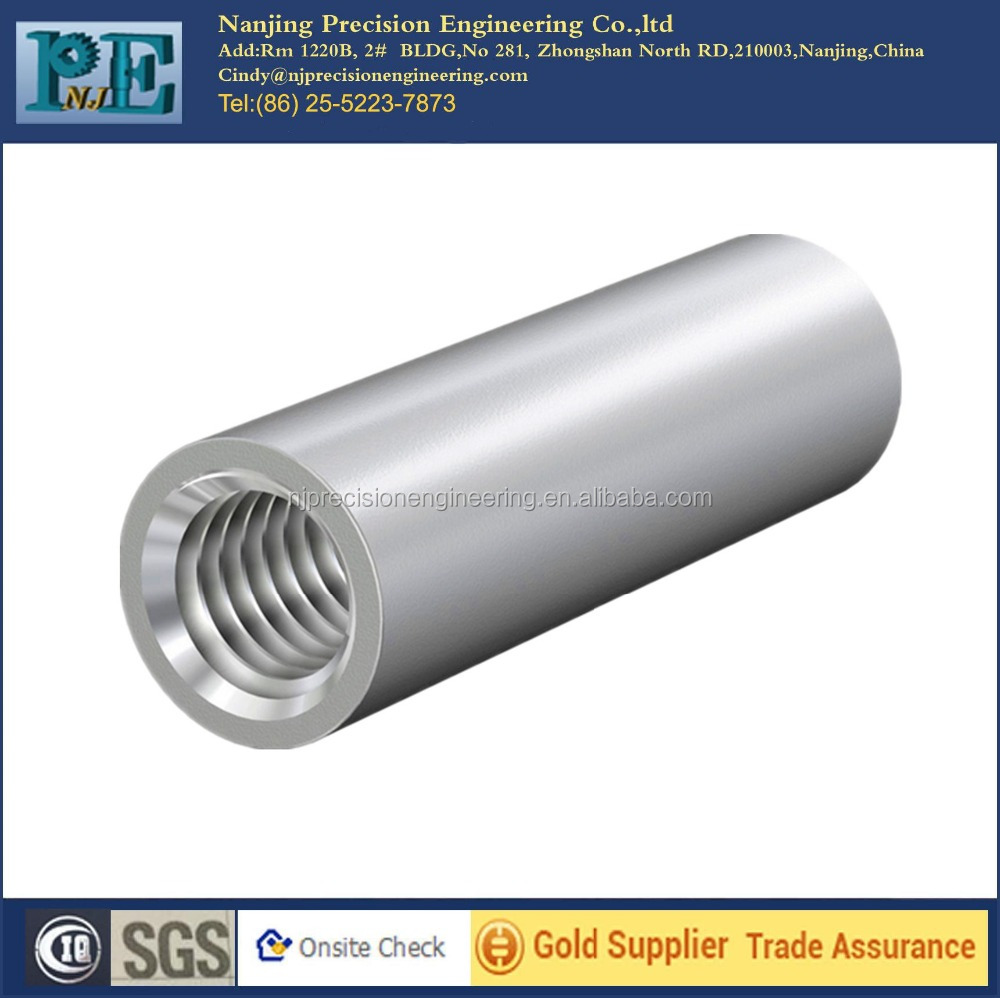china manufacturer supply OEM and ODM cnc machining aluminium threaded sleeve