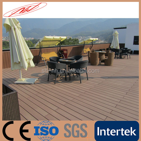 Outdoor Artificial Fireproof WPC Wood Flooring Deck