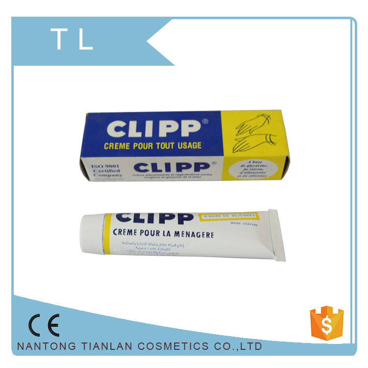 Luxury packing clipp hand cream soft plastic cosmetic tube