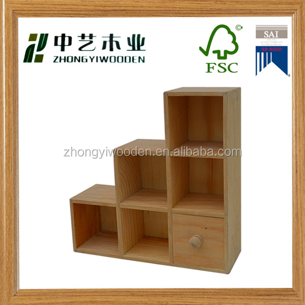 Living room decoration high quality custom wooden bookshelf bookcase wholesale