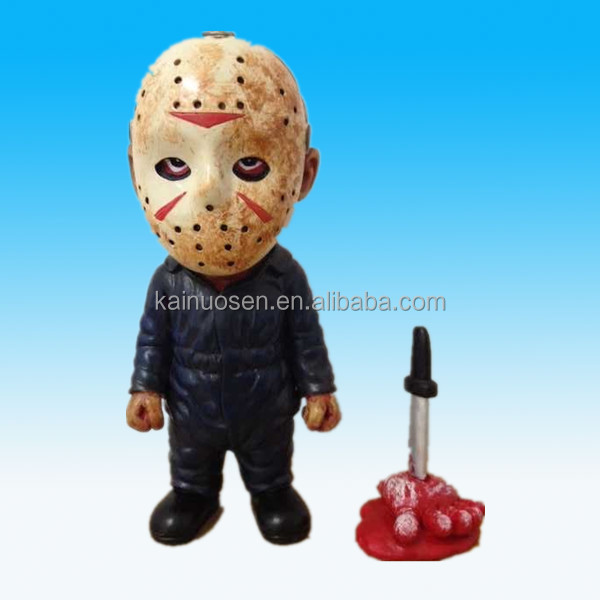 "Jason 5.5"" Collectible Polyresin Figurine Home Decor Friday The 13th Horror Statue"