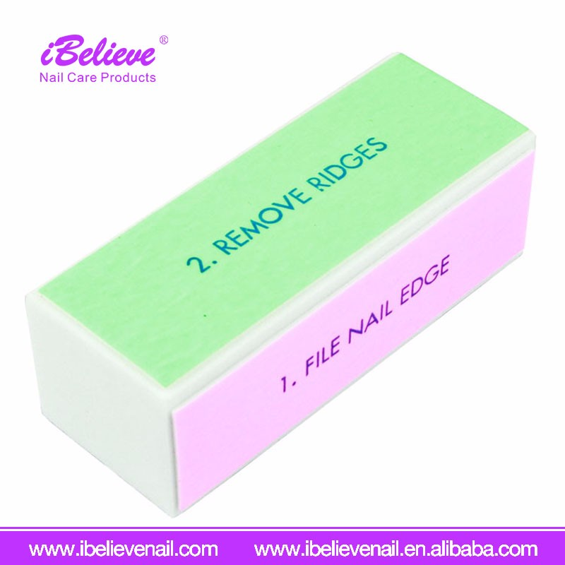 Wholesale Price Pedicure Manicure 4 Way Nail Block Buffing Sanding Files Sponge Nail File Disposable Nail Buffers