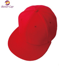 China Guangzhou better cap factory made red 6 panels santa snapback hat
