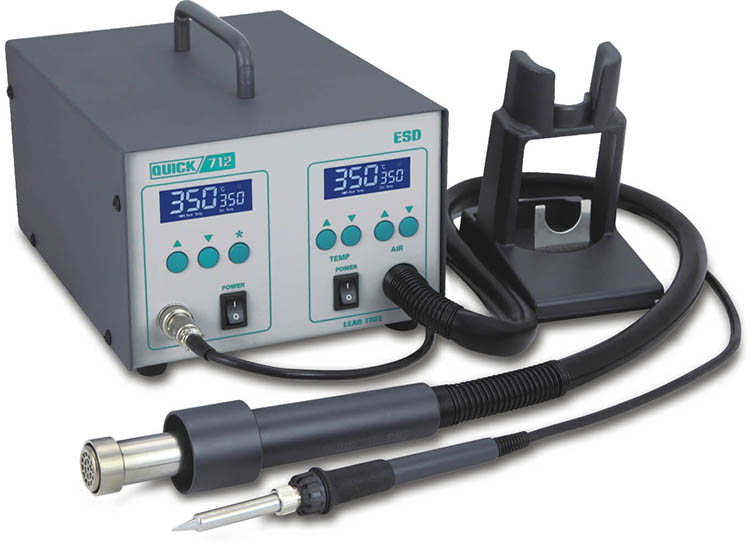 QUICK 712 hot air double digital soldering desoldering station