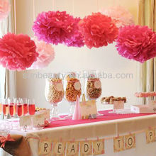 Colorful Paper Flowers for Wedding Hall Decorations