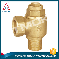TMOK brass stop valve with brass character globe valve/stop cock for water in high quality