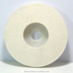 Abrasive Wool felt disc for polishing stainless steel and glass
