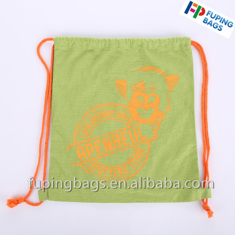 Professional custom various style cotton bag/ drawstring bag/ cute fancy canvas backpack with printing