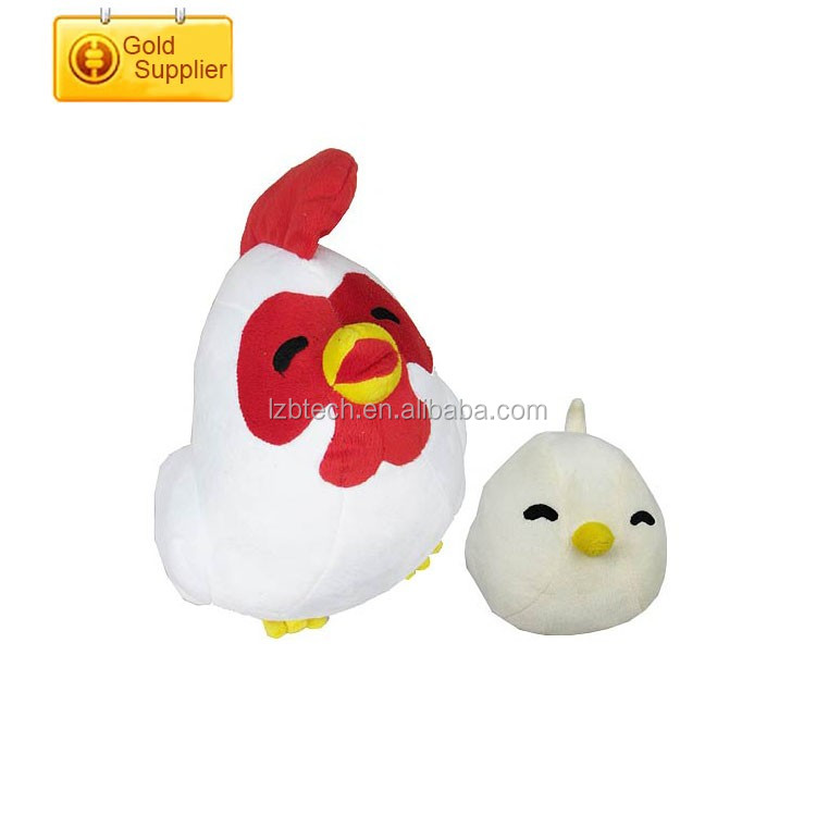 Pretty toy chicken lays eggs lovely chicken stuffed plush toy for new year