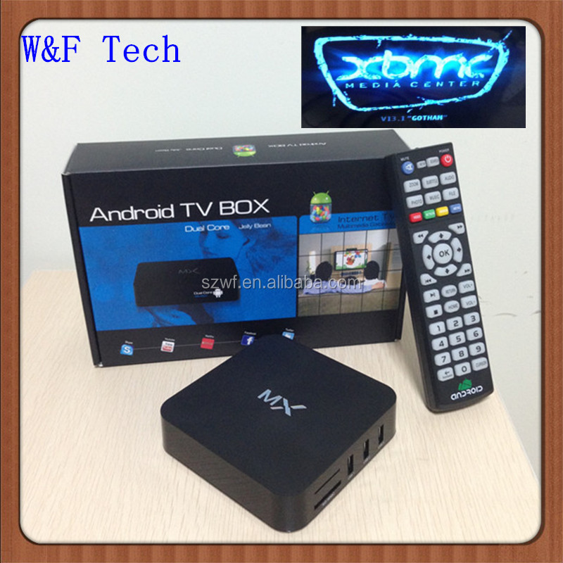 Amlogic 8726 dual core mx android smart tv box android 4.2.2 g box midnight mx2 xbmc box