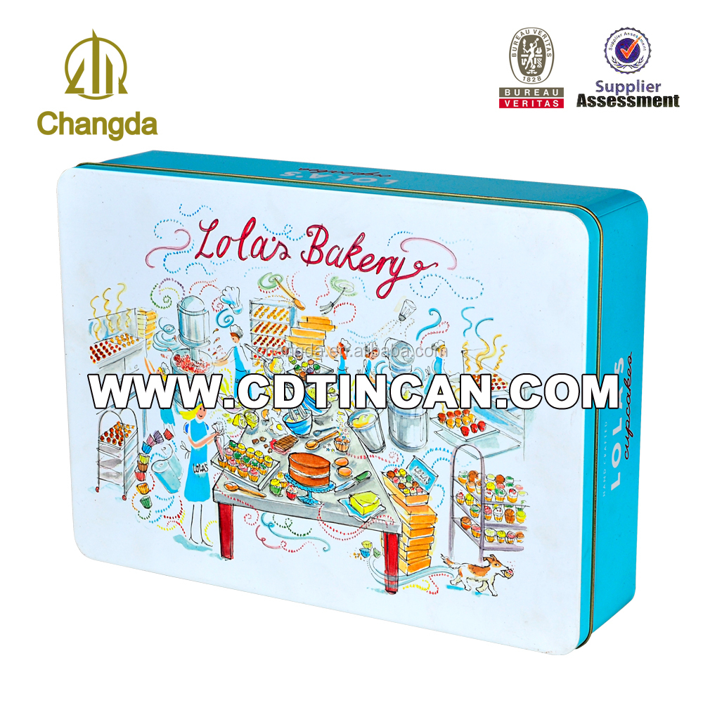 Large size gift tin box for baby products