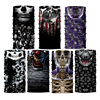 Custom design your own mask printing bandana seamless high quality face mask skull