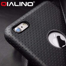 QIALINO 2016 Top Quality Pure Handmade Genuine Leather Case Cover For Apple iPhone 6, For iPhone 6s Plus