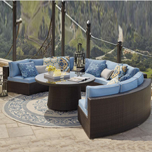All weather rattan patio modern garden furniture outdoor wicker sofa set
