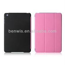 For mini iPad cover flip case and PC with PU Leather cover