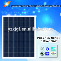 High efficiency poly solar panel 130watt with TUV CE CQC