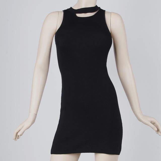 Ladies irregular neck sleeveless sexy summer dress