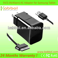 5V 2.1A Power Adapter for Samsung GALAXY NOTE 10.1 TAB 2 7.0 10.1