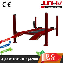 Car workshop lifting equipment electric hydraulic used 4 post car lift for sale