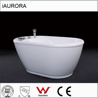 iAURORA Very Small Freestanding Acrylic Baby Bathtub with Seat