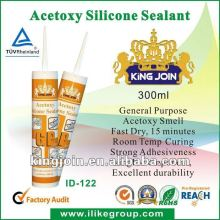 White Tub and Tile Actoxy Curing Window Glass Ceramics Installation Acetoxy Silicone Sealant (SGS,REACH)