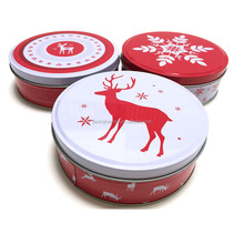 Decorative christmas tins / bulk mint tins / empty tin candy tin box