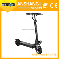 Standing covered motor scooter