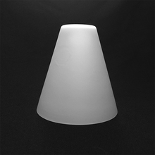 custom best quality frosted cone shaped glass lamp shade