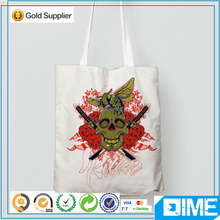 Skull item printed linen laminated tote bags cotton wholesale UK