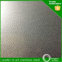 Foshan factory embossed stainless steel stainless steel sheet golden coating for five star hotel
