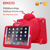 EXCO PC Silicone ladybug textured Hybrid combo case for ipad 3 / 2 / 1