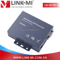 Alibaba China LM-101TR-1 100m VGA Extender TX + RX Over Cat5 With Audio Support Local and Remote VGA Monitors