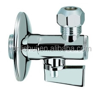 "Blow-out Proof Polished Chrome Plated Brass Angle Valve with Filter(with nut 3/8""*10mm)(Economic Model)"