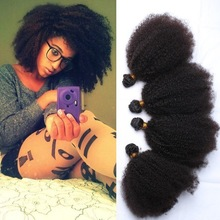 Wholesale Cheap Grade 7A Afro Kinky Curly Human Hair Weaving For Black Women