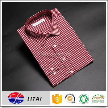 new fashion mens bamboo fiber plaid fabric shirt with OEM service