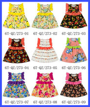 Floral Baby Girl Formal Cotton Dresses Fancy Dresses For Baby Girl Party Dresses For Girls Of 7 Years Old