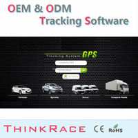 Easy Use wireless car alarm vehicle tracking system software /gps tracking system/gps tracker by Thinkrace