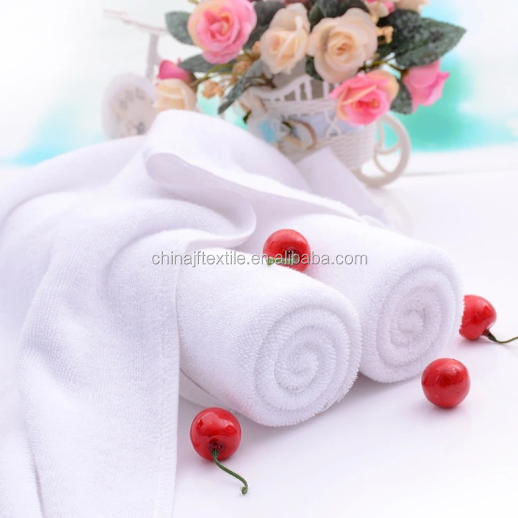 Factory direct white towel hotel beauty salon 100% cotton large bath towelJF31