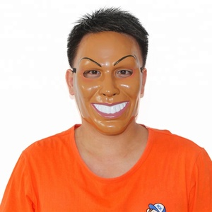 Movie Prop Halloween Masquerade Cosplay Male The Purge Mask Smiling Face Mask