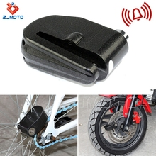 Hot Selling ZJMOTO High Quality Metal Lock Motorcycle Alarm Lock For Motorcycles