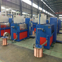 24WDS(0.1-0.6)cable making equipment Horizontal type copper fine wire drawing machine